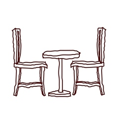 A table with chair vector image