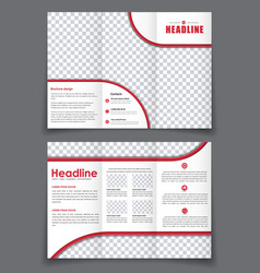 esign folding flyer with space for photos for vector image