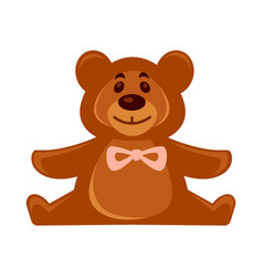 Little toy brown bear vector