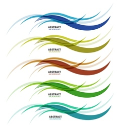 Abstract background colorful business wave line vector