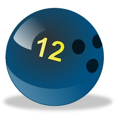 Blue bowling ball number 12 vector