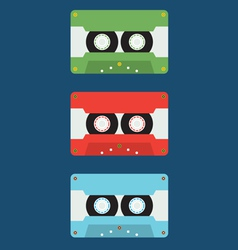 Flat design cassette tape vector