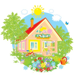Summer cottage vector