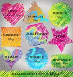 Set of Colorful Doodled Shapes vector image