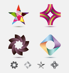 Modern icon or logo set vector