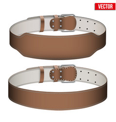 Mockup weightlifting gym leather belt vector