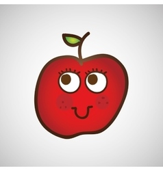 Fruit nature healthy cartoon food vector