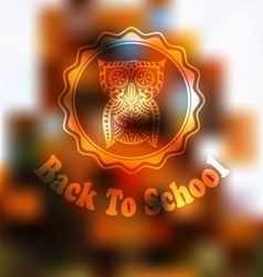 Autumn back to school background vector