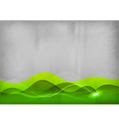 background green wave vector image vector image
