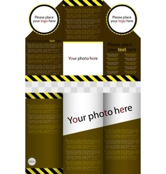 Business design of a flyer vector image