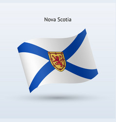 canadian province of nova scotia flag waving form vector image