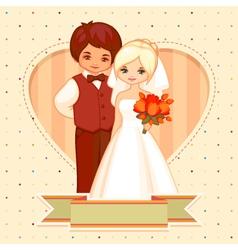 Cartoon wedding card vector