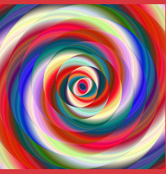 Colorful ellipse fractal spiral design background vector