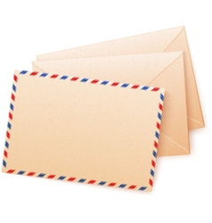 Craft paper envelops vector image
