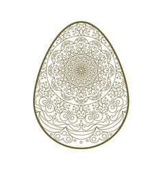 Easter egg lace vector