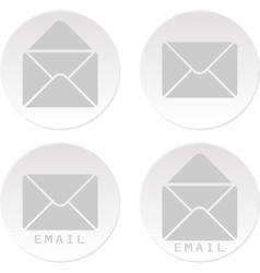 Email white bottons vector
