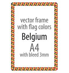 Flag v10 belgium vector