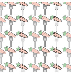 Fresh carrot to prepair natural salad background vector