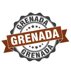 Grenada round ribbon seal vector