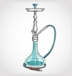 Hand drawn hookah vector