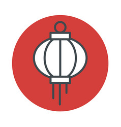 japanese lantern icon isolated on white background vector image vector image