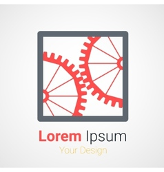 logo gear vector image
