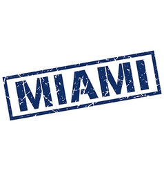 Miami blue square stamp vector image vector image