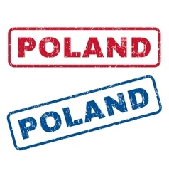 Poland rubber stamps vector
