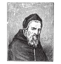 Pope sixtus v vintage vector
