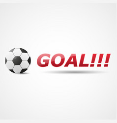 resultative shot into goal vector image