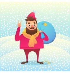 Santa men vector image