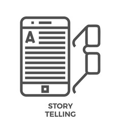 story telling line icon vector image vector image