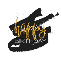 stylish happy birthday card template vector image vector image