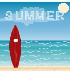 Surfboards beach holidays vector image