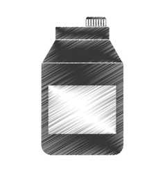 Tetra pak product isolated icon vector