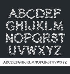 Texture serif font vector