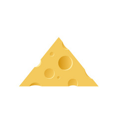 triangle piece of maasdam cheese vector image