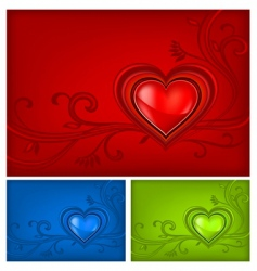 tricolored valentine background vector image vector image