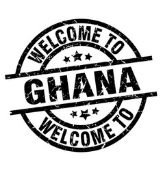 Welcome to ghana black stamp vector