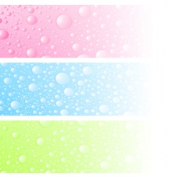 wet banner vector image