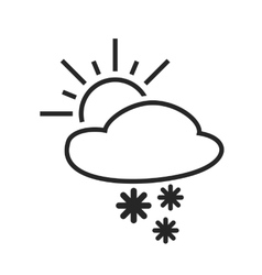 Heavy snow shower sleet day weather forecast vector