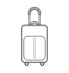 Suitcase isolated Linear flat icon object vector image
