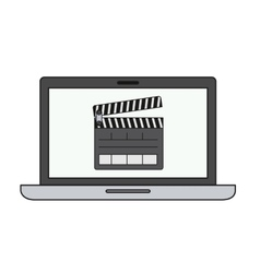 Laptop computer isolated icon vector