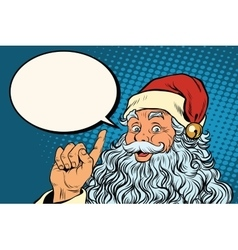 Santa claus resembles pop art retro vector
