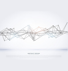 Abstract wireframe mesh on white background vector