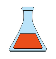 color image cartoon glass beaker for laboratory vector image