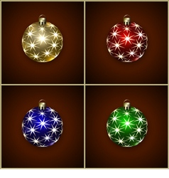 Christmas decoration balls vector