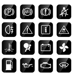 Car driving icons vector