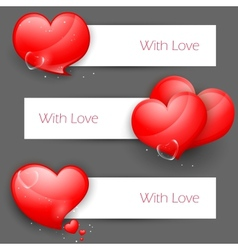 Love banner for valentines day vector