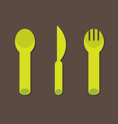 Knife fork spoon vector